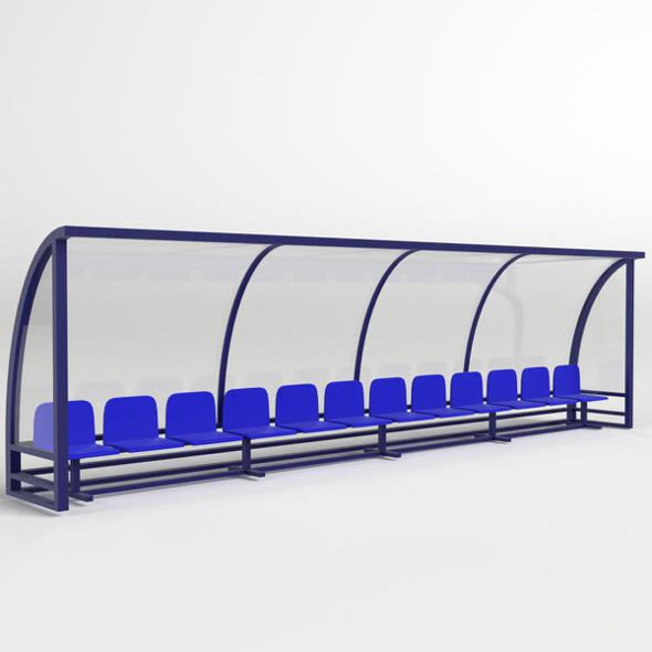 Soccer Reserve Bench - 3DOcean Item for Sale