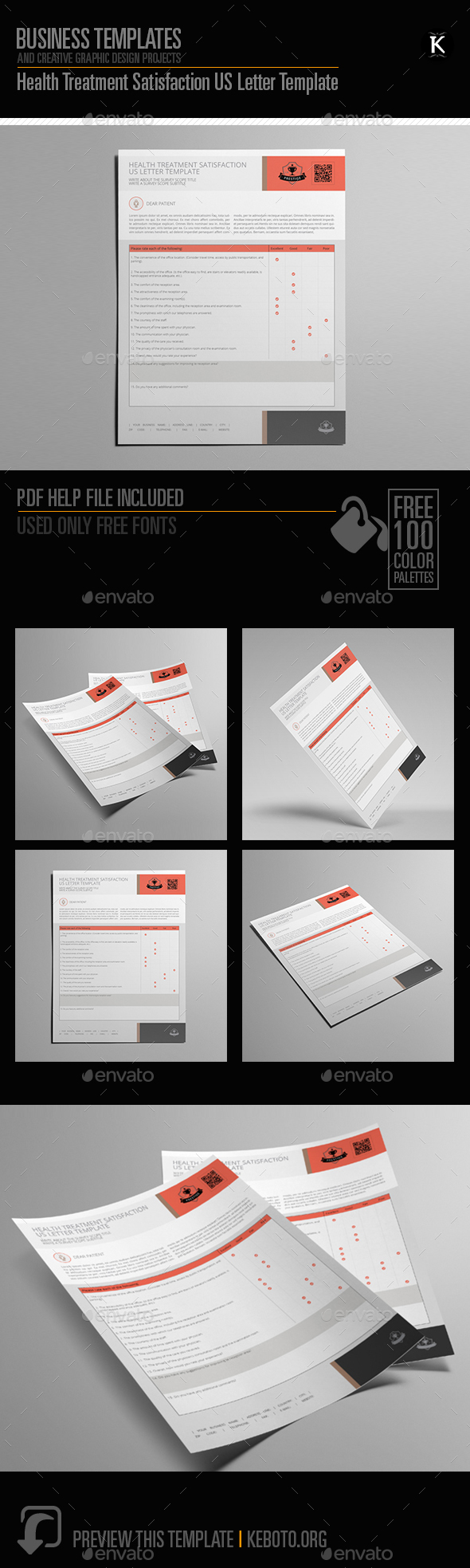 GraphicRiver Health Treatment Satisfaction US Letter Template 20545603