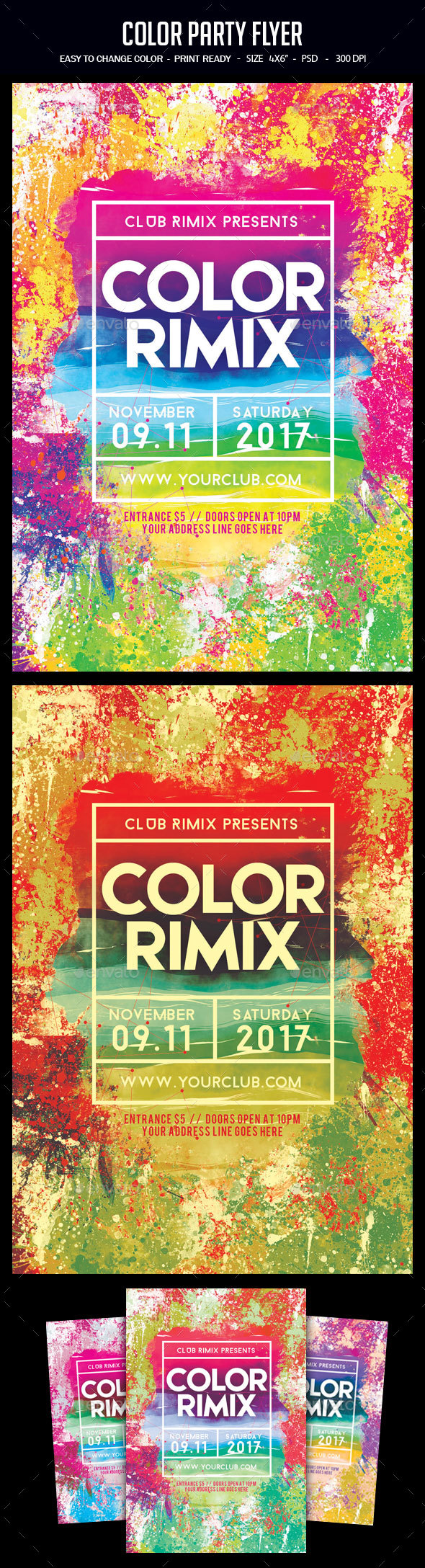 GraphicRiver Color Party Flyer 20545620