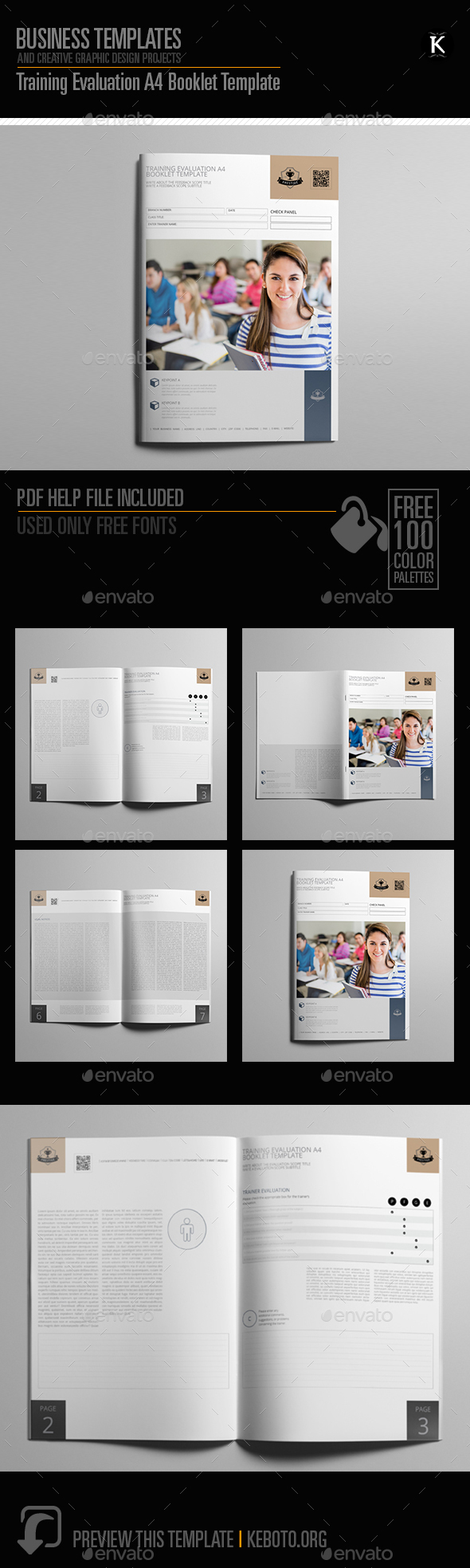 Training Evaluation A4 Booklet Template - Miscellaneous Print Templates