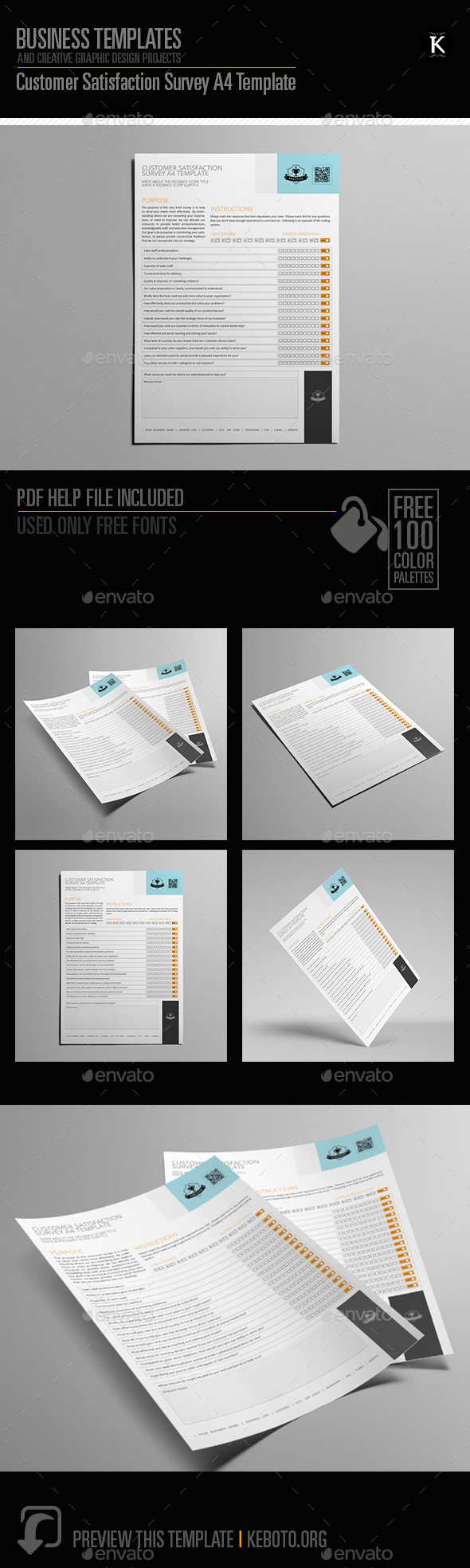 Customer Satisfaction Survey A4 Template - Miscellaneous Print Templates