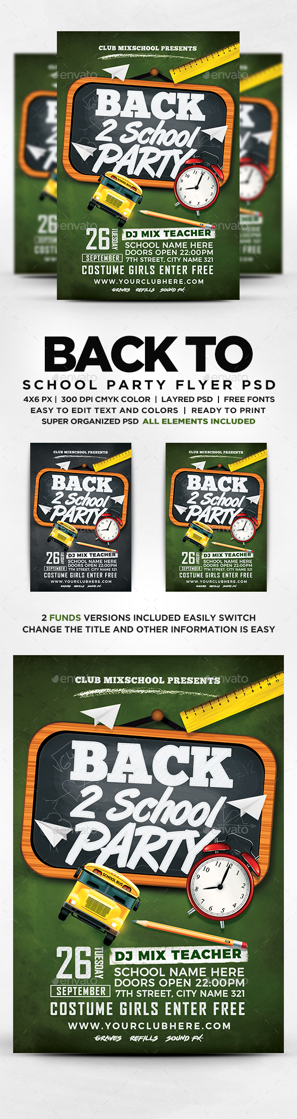 GraphicRiver Back To School Flyer 20545931