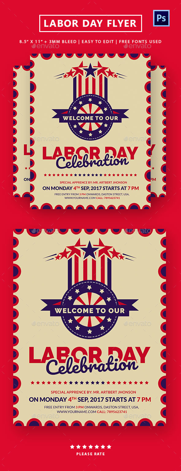 GraphicRiver Labor Day Flyer 20545952
