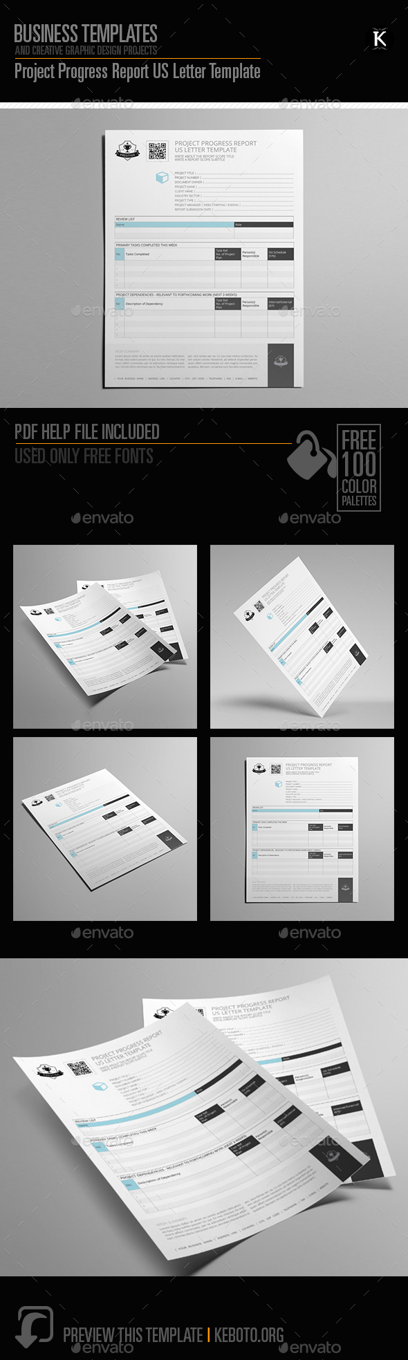 GraphicRiver Project Progress Report US Letter Template 20546270