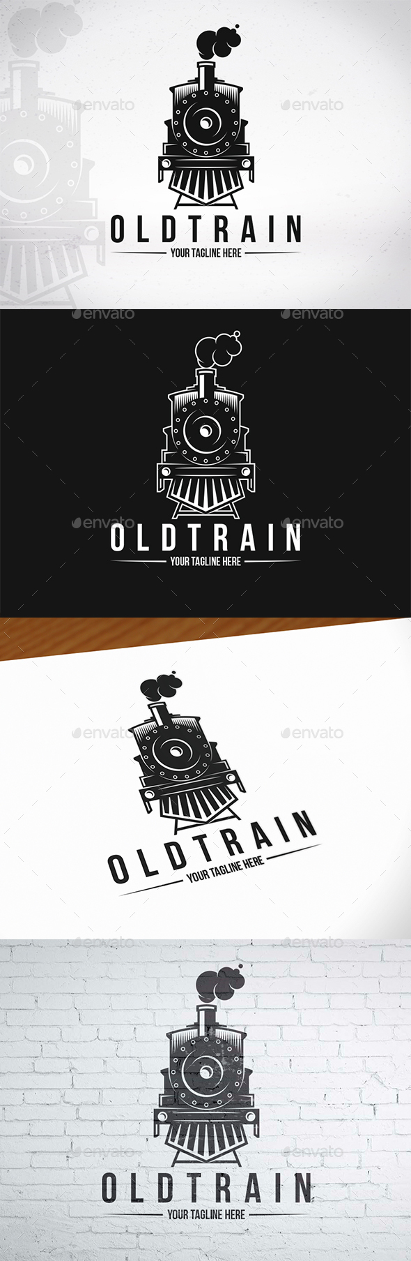 GraphicRiver Old Train Logo Template 20546337