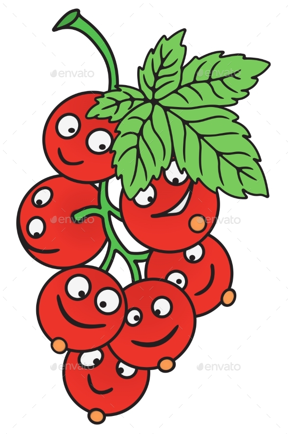 Fresh Currant Cartoon - Food Objects