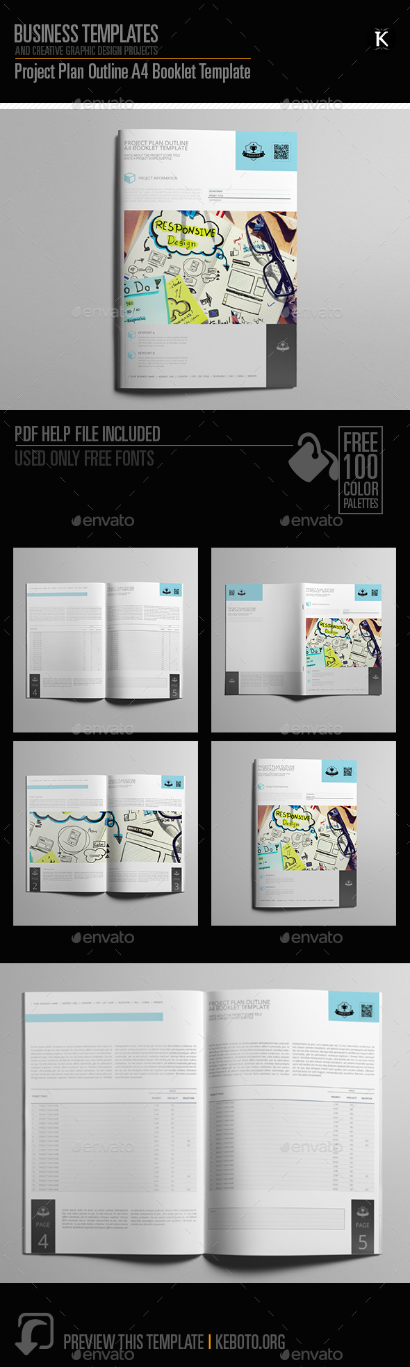 GraphicRiver Project Plan Outline A4 Booklet Template 20546529