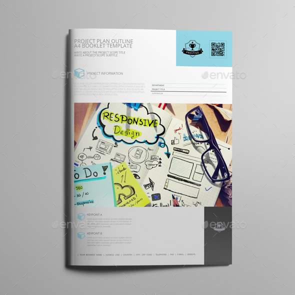project plan outline a4 booklet template by keboto graphicriver