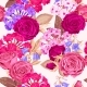 Seamless Pattern with Phloxes and Roses