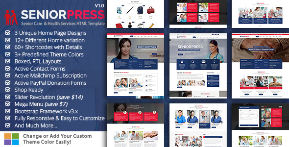 SeniorPress - Senior Care & Health Services HTML5 Template