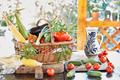 Basket With Fresh Vegetables - PhotoDune Item for Sale