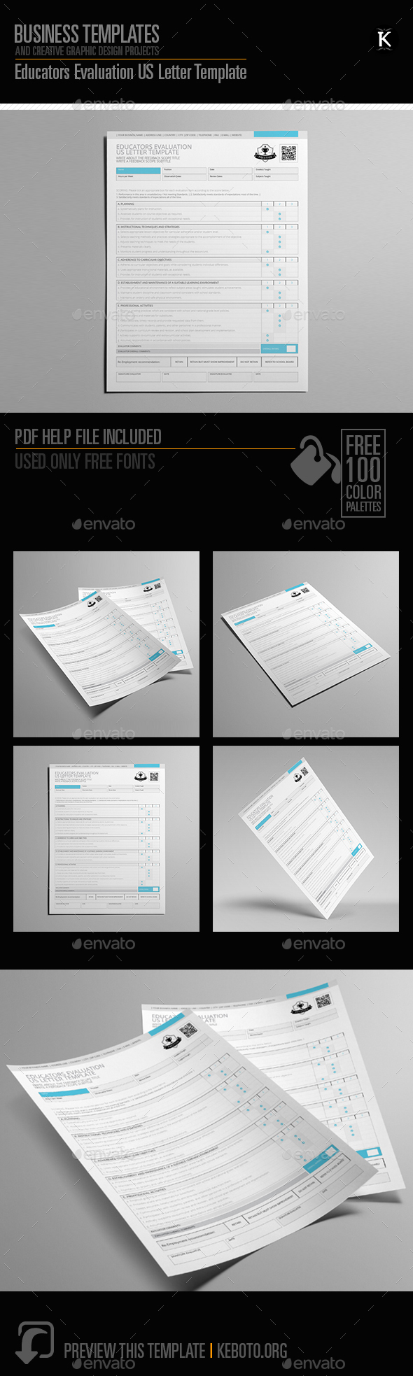 GraphicRiver Educators Evaluation US Letter Template 20547078