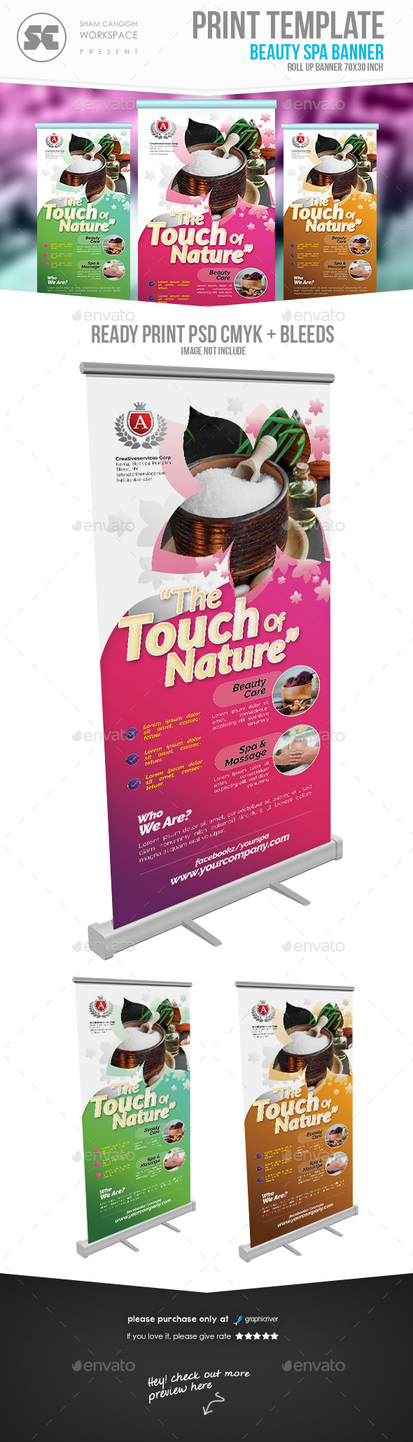 beauty & Health Banner - Signage Print Templates