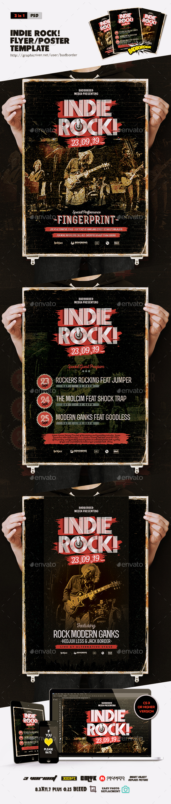 GraphicRiver Indie Rock Flyer Poster 20547181