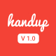 Handup - Material Responsive HTML5 Template