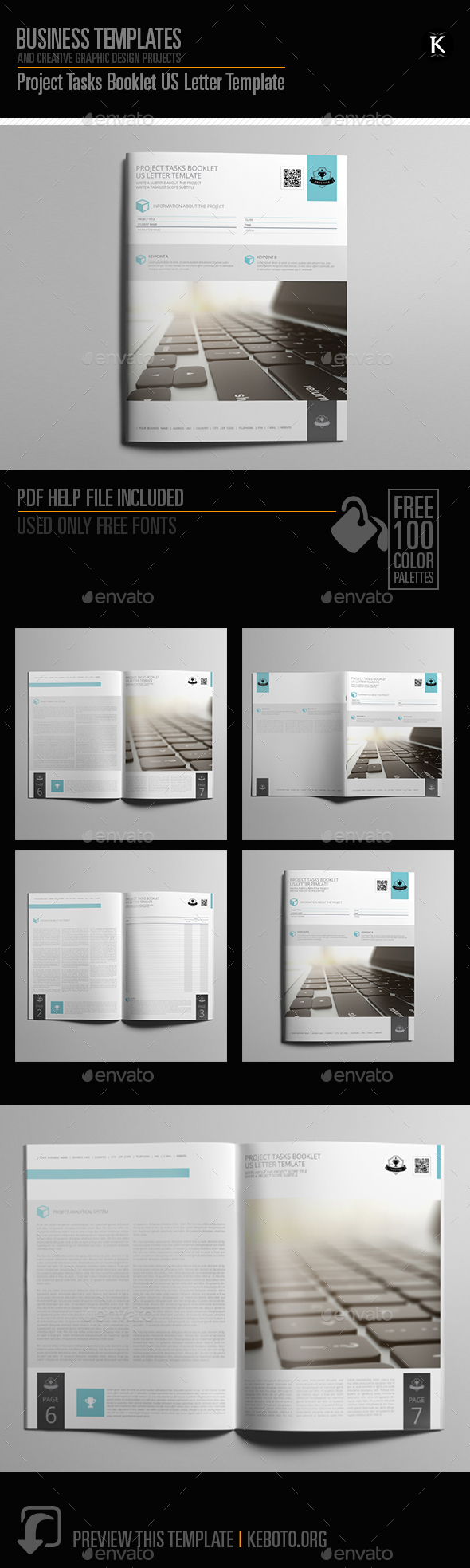 GraphicRiver Project Tasks Booklet US Letter Template 20547249