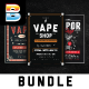 Vape Shop Flyer Menu Bundle