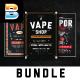 Vape Shop Flyer Menu Bundle - GraphicRiver Item for Sale