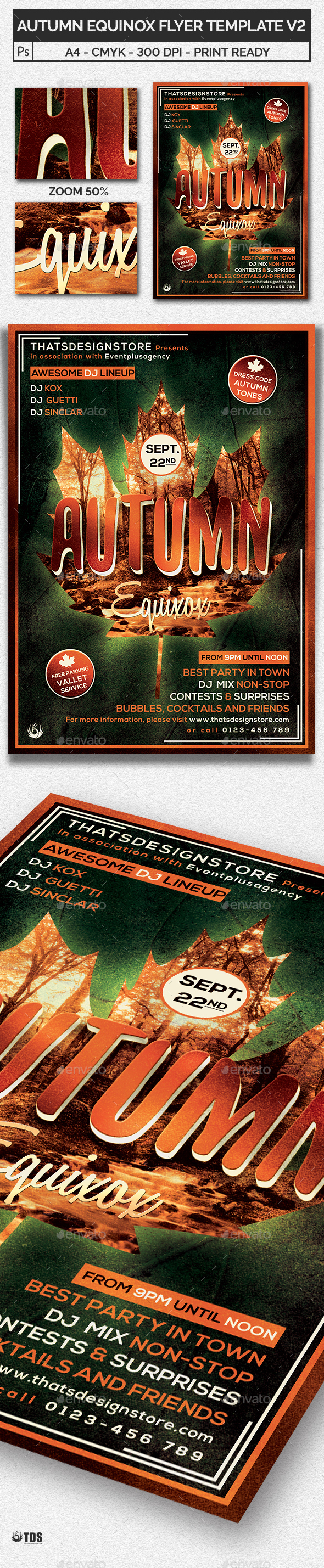 Autumn Equinox Flyer Template V2 - Clubs & Parties Events