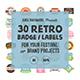 30 Retro Badge Label