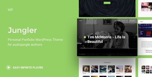 Jungler - Music Portfolio WordPress Theme