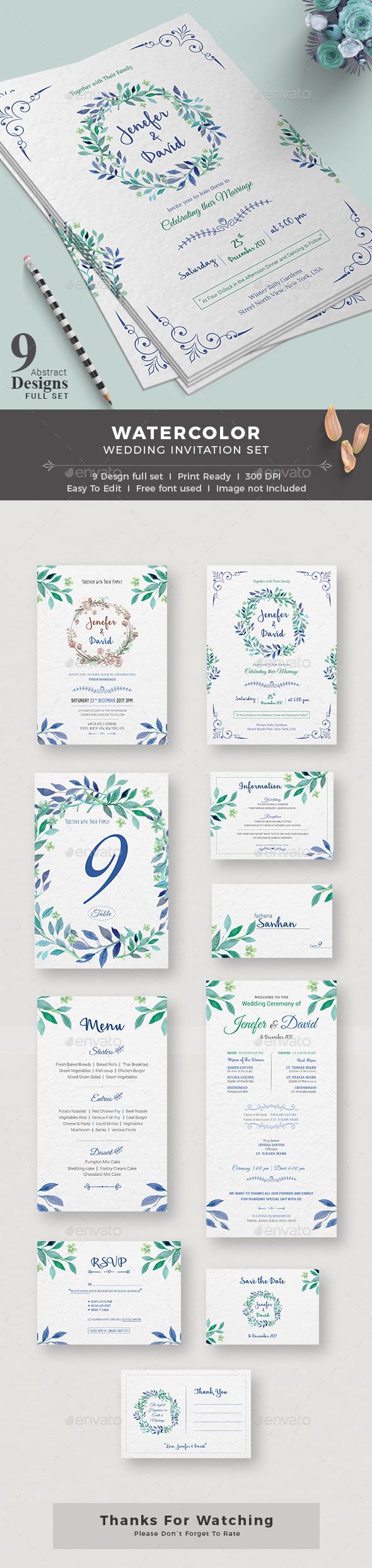 GraphicRiver Wedding Invitation 20547562