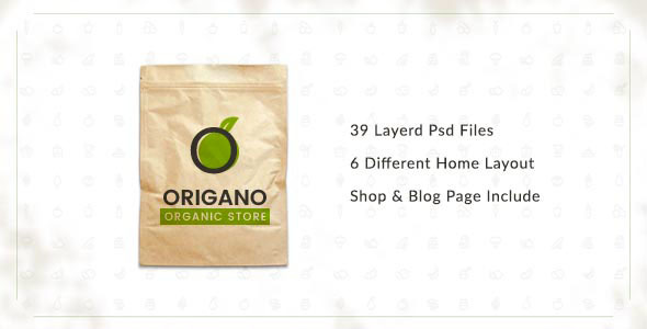 Origano -  Organic Store PSD Template - Food Retail