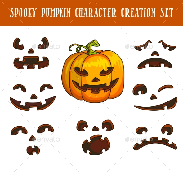 Spooky Traditional Halloween Pumpkin Character - Halloween Seasons/Holidays