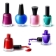 Set of Vector Nail Polish Bottles