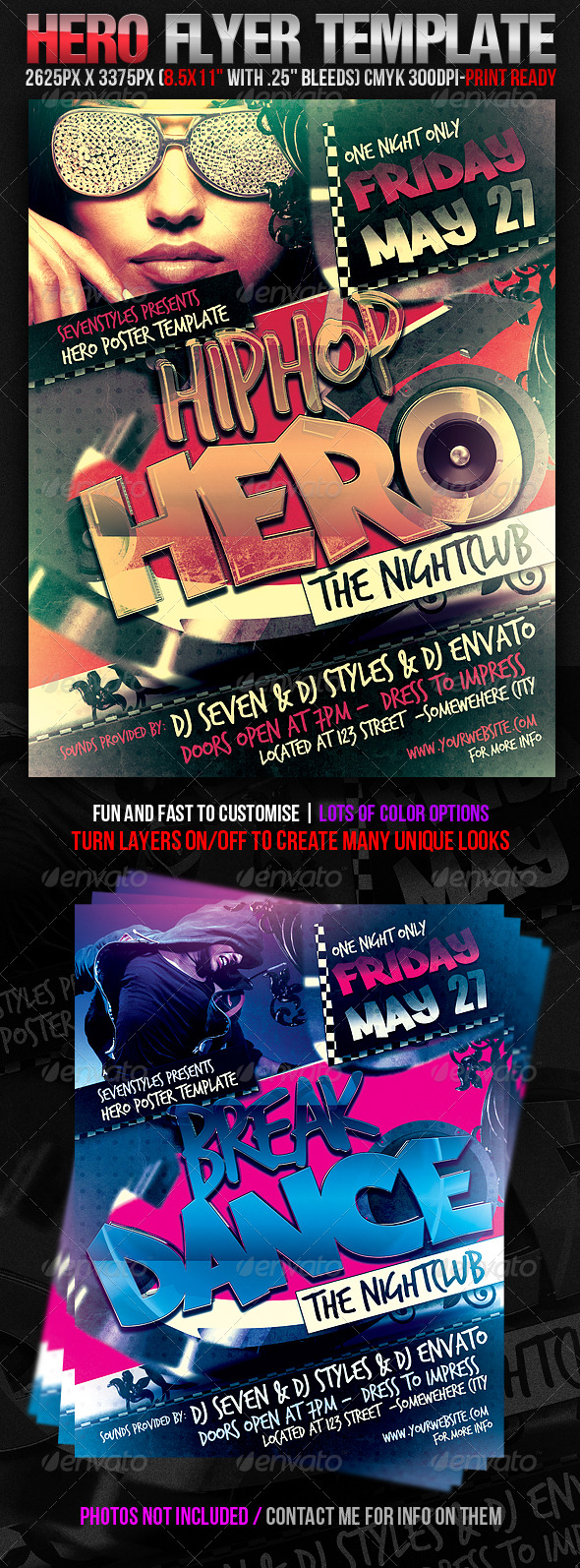 Hero Flyer Template - Clubs & Parties Events