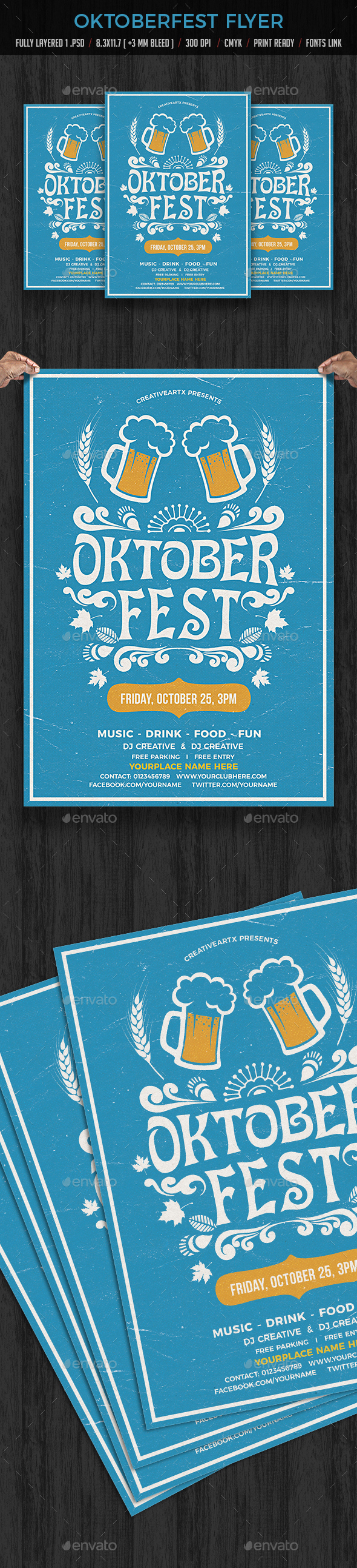 Oktoberfest Flyer - Events Flyers