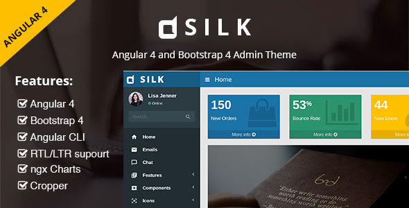 Silk - Angular 4 Admin Template with Bootstrap 4 and Material Design