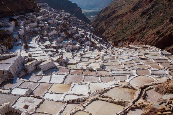 Salt ponds - Stock Photo - Images
