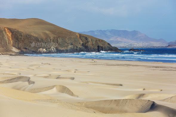 Coast in Peru - Stock Photo - Images