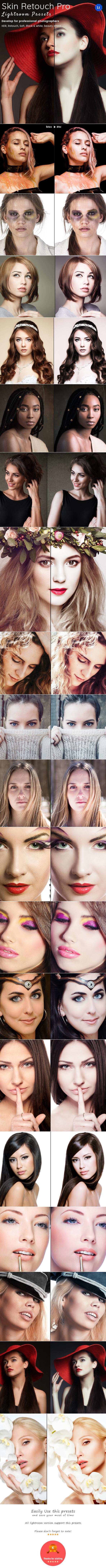 Skin Retouch Pro Lightroom Presets - Lightroom Presets Add-ons