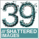 39 Isolated Shattered Letters - GraphicRiver Item for Sale