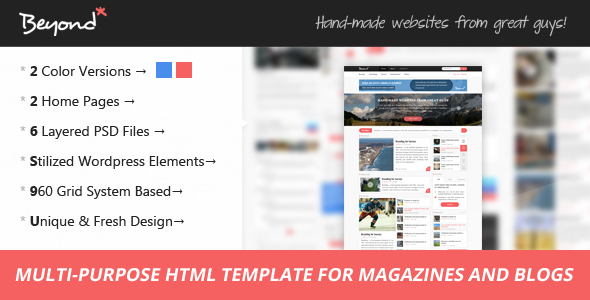 Beyond - Multi-purpose HTML Template - Site Templates