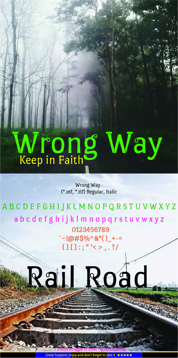 GraphicRiver Wrong Way 20548388