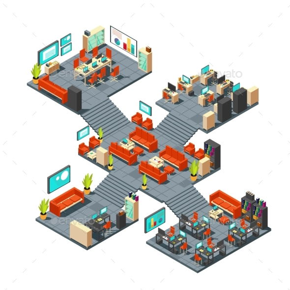 GraphicRiver Corporate Professional 3D Office Isometric 20548451