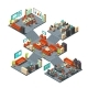 Corporate Professional 3D Office Isometric