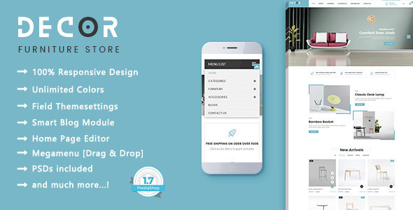 Decor - Furniture Responsive Prestashop 1.7 Theme