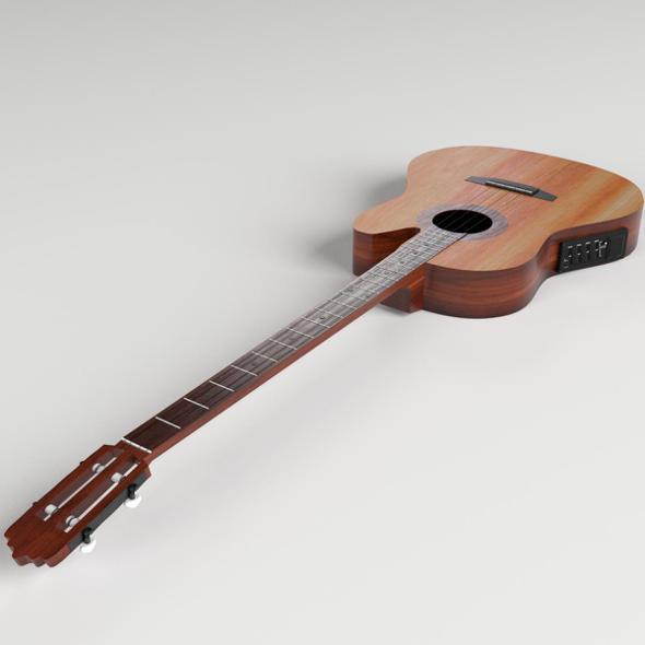 3DOcean Acoustic Bass Guitar 20548519