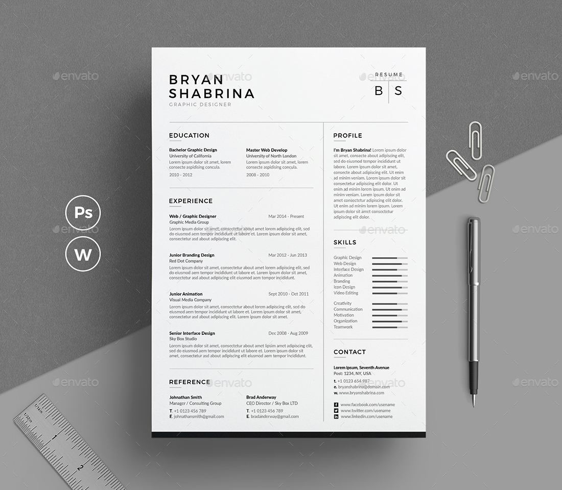 resume design inspiration the bryan shabrina resume with cover