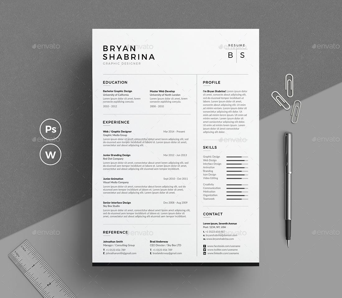 resume design inspiration the bryan shabrina resume with cover letter - Resume Design Inspiration
