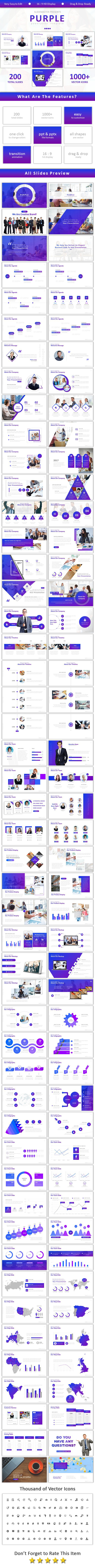 Purple Powerpoint - Business PowerPoint Templates