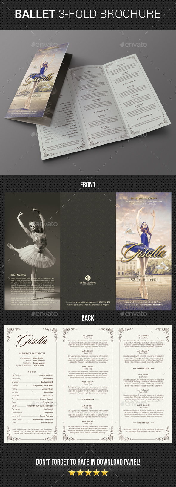 GraphicRiver Ballet Program 3-Fold Brochure 20548846