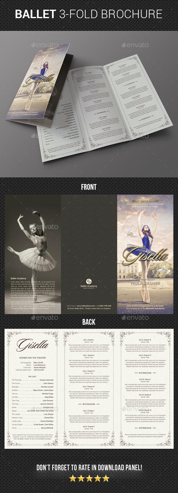 Ballet Program 3-Fold Brochure - Brochures Print Templates