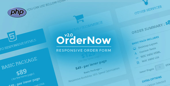 OrderNow - Responsive PHP Order Form - CodeCanyon Item for Sale