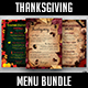 Thanksgiving Menu Bundle - GraphicRiver Item for Sale