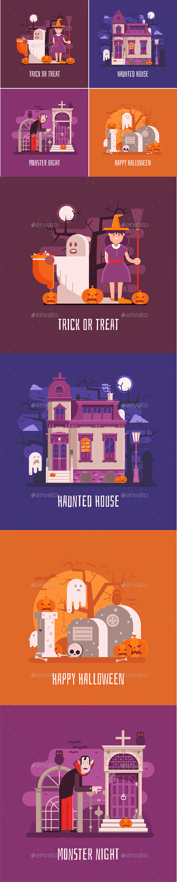 GraphicRiver Halloween Concept Cards and Banners 20548980